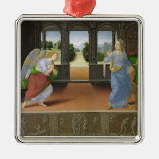 Annunciation Silver-Colored Square Decoration