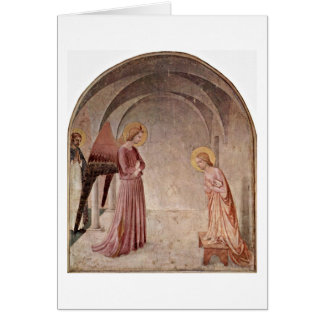 Annunciation With St. Dominic By Fra Angelico Card