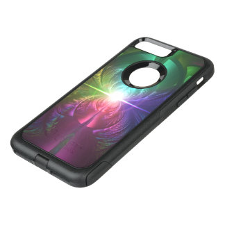 Anodized Rainbow Eyes and Metallic Fractal Flares OtterBox Commuter iPhone 8 Plus/7 Plus Case