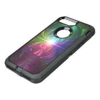 Anodized Rainbow Eyes and Metallic Fractal Flares OtterBox Defender iPhone 8 Plus/7 Plus Case