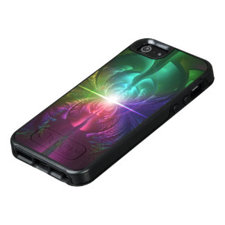 Anodized Rainbow Eyes and Metallic Fractal Flares OtterBox iPhone 5/5s/SE Case