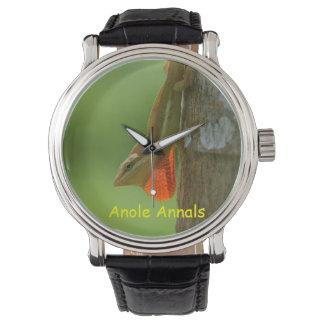 Anole Watch: Anolis pulchellus Wristwatches