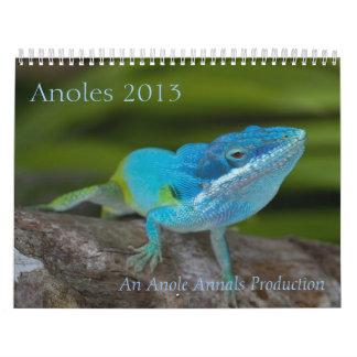 Anoles 2013 Calendar