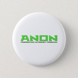 Anon Preserving Internet Freedom 6 Cm Round Badge