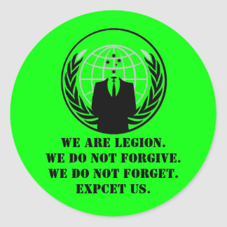 Anon round sticker