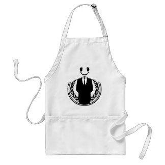 Anonymous DJ smiley Adult Apron