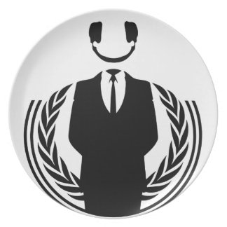 Anonymous DJ smiley Plates