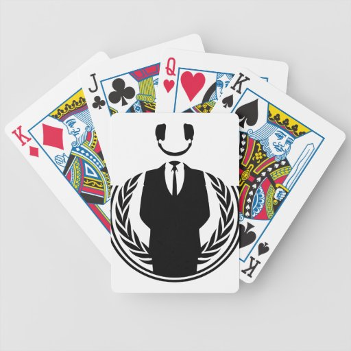 Anonymous DJ smiley Card Deck