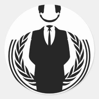 Anonymous DJ smiley Round Sticker