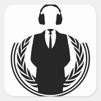 Anonymous DJ Square Sticker