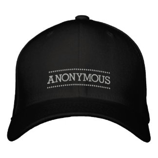 Anonymous embroidered hat