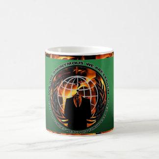 anonymous fire morphing mug