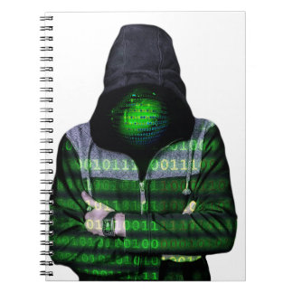 Anonymous Internet Hacker Spiral Note Book