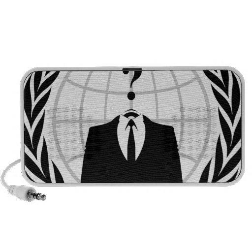 Anonymous Logo Mini Speakers