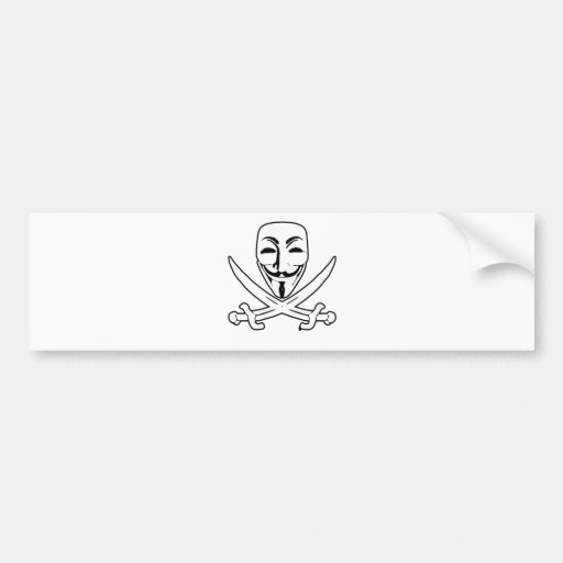 Anonymous pirate bumper stickers