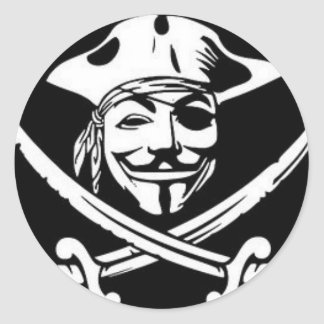 Anonymous Pirate Round Sticker