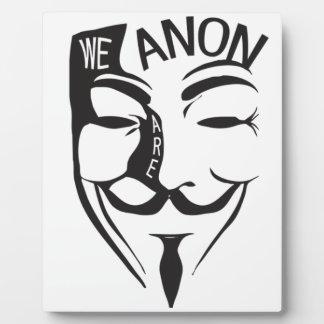 Anonymous Plaque