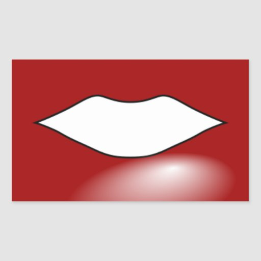 Anonymous_Red_Lips KISS LIPS RED LIPSTICK Rectangle Sticker