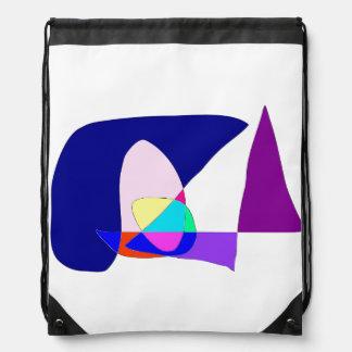 Anonymous Sailboat Drawstring Bag