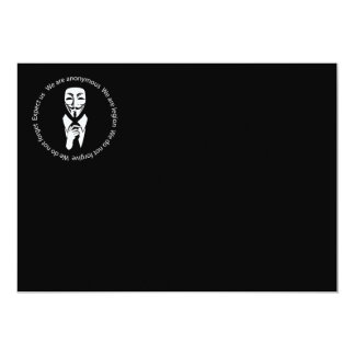 Anonymous seal 13 cm x 18 cm invitation card