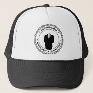 anonymous seal trucker hat