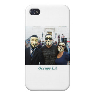 Anonymous Trio Day7 Occupy LA iPhone 4 Covers