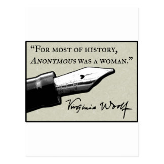 Anonymous Was a Woman Post Card
