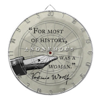 Anonymous Was a Woman ~ Virginia Woolf quote circl Dartboard