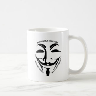 Anonymous White Coffee Mug