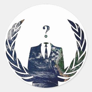 Anonymous Worldwide Classic Round Sticker