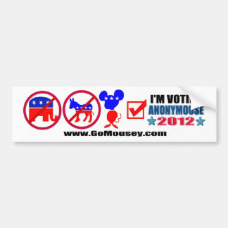 Anonymouse 2012 Bumper Sticker