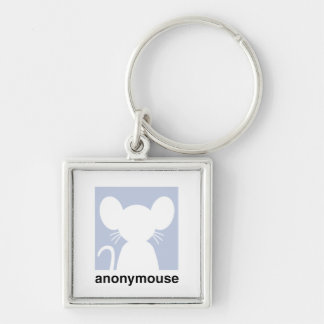 Anonymouse Silver-Colored Square Key Ring