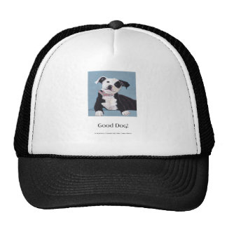 AnOpenHeaven, Good Dog, black and white dog, pet Trucker Hats