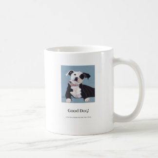 AnOpenHeaven, Good Dog, black and white dog, pet Coffee Mug