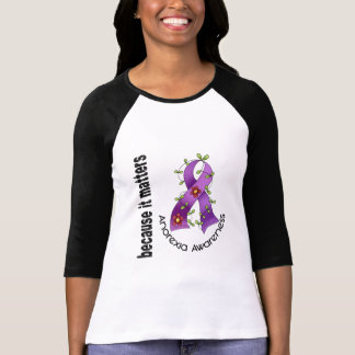 Anorexia Flower Ribbon 3 T-Shirt