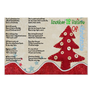 Another 12 Haikus Of Christmas Poster