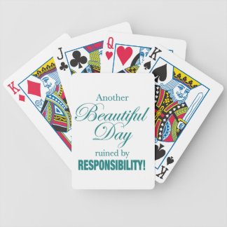 Another Beautiful Day Ruined! Bicycle Playing Cards