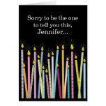 Another Birthday Getting Old Personalised Birthday Greeting Card