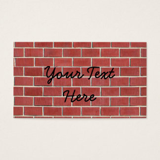 Another brick in the wall business card