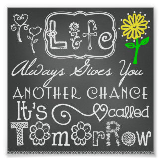Another Chance Chalkboard Look Poster