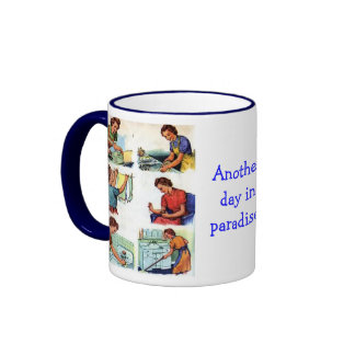 Another Day in Paradise Ringer Mug