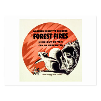 Another Enemy to Conquer Forest Fires Vintage Postcard
