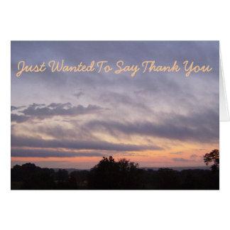 Another Kentucky Sunset Thank You Card