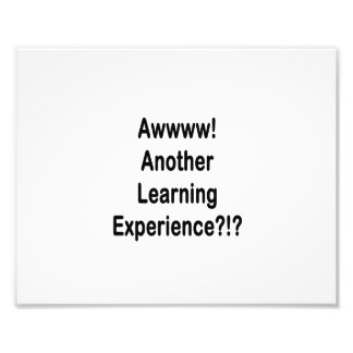 another learning experience black text photo art