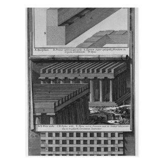 Another perspective view and details of the Doric Postcard