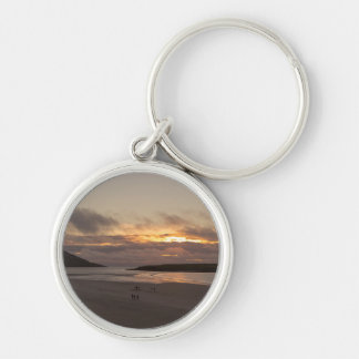 Another piece of heaven Silver-Colored round key ring