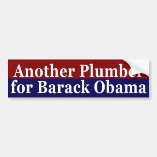 Another Plumber for Barack Obama Sticker
