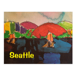Another Rainy Day with mixed media Postcard
