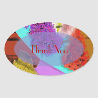 Another Springtime Abstract Design Oval Sticker