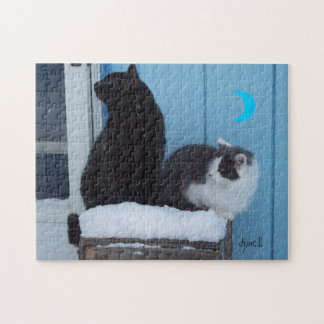 Another Storm Coming Cat Meme Jigsaw Puzzle